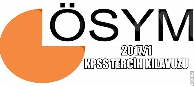 2017/1 KPSS Tercih Kılavuzu-Genel Değerlendirme (Lisans)